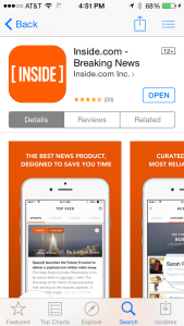 There's Inside.com, and also the Inside mobile app for iOs, Android and Blackberry.