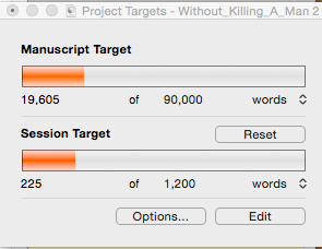 The current WIP target...sure to be revised. Looks novella length now. Will eventually be novel length...this is a temporary goal.